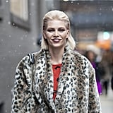Pompadours are a fashion lover's best friend, and this woman's modified version is a great way to do the trend without feeling like you're trying too hard.
