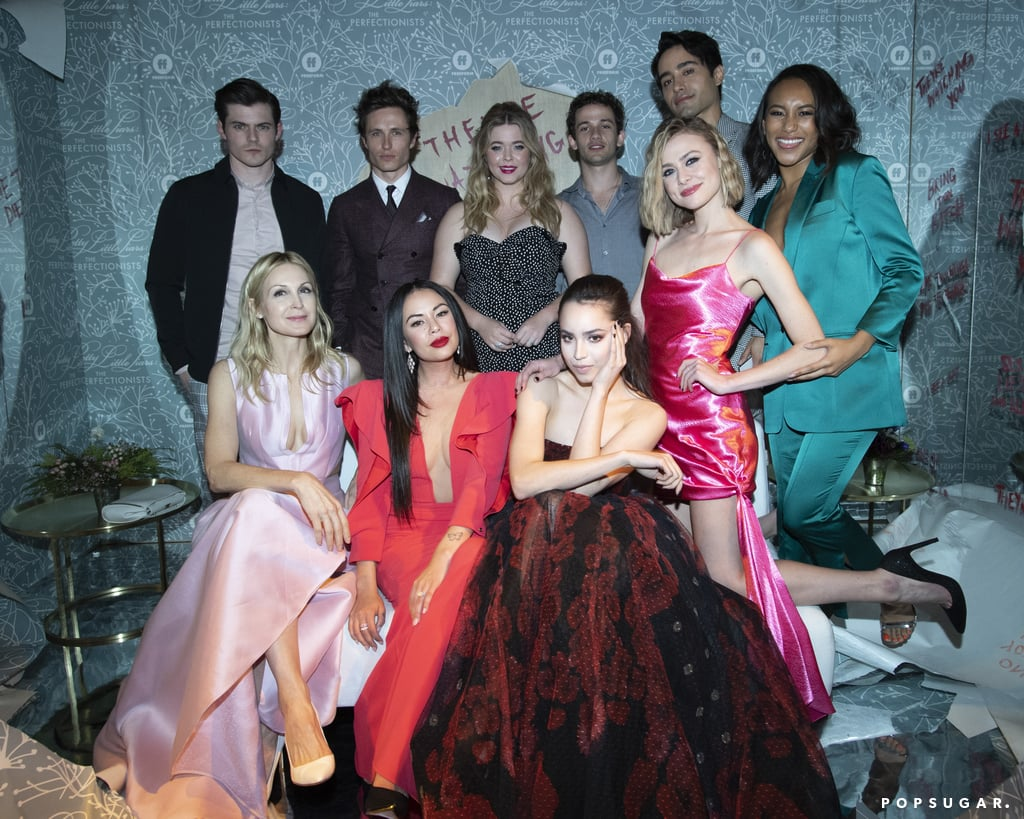 "If you tuned in to watch The Perfectionists on Wednesday night, you're likely already obsessing over the incredible cast. The Pretty Little Liars spinoff stars Sasha Pieterse, Janel Parrish, Sofia Carson, Sydney Park, and Eli Brown, and despite their roles on the show, the cast members genuinely seem to like each other in real life. From celebrating birthdays together to hitting the town, the group always seems to have the best time. In fact, Janel recently told POPSUGAR that she's fully embraced her big sister role among the cast. ""Sasha's not much younger than me, but I always go to her for life advice because she's one of the wisest, most mature people I've ever met,"" Janel said. See the cast's cutest moments together ahead!      Related:                                                                                                           The Perfectionists: Where to Follow the Pretty Little Liars Spinoff Cast on Social Media"