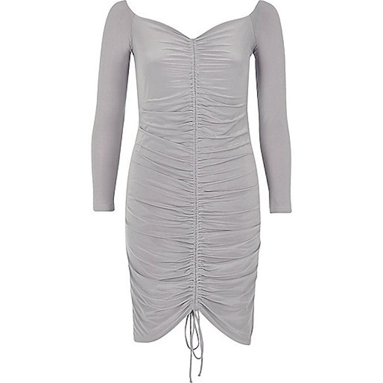 River Island Ruched Bodycon Dress Beyonces Ruched Silk House Of