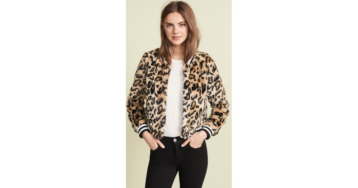 20089c6307eb Jack by BB Dakota Clever Girl Leopard Faux Fur Bomber | Best Jackets Under  $100 | POPSUGAR Fashion Photo 10