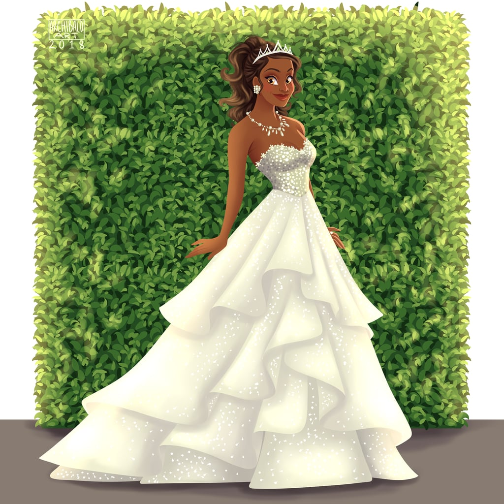 Tiana's Tiered Wedding Dress Is Definitely Fit For Royalty