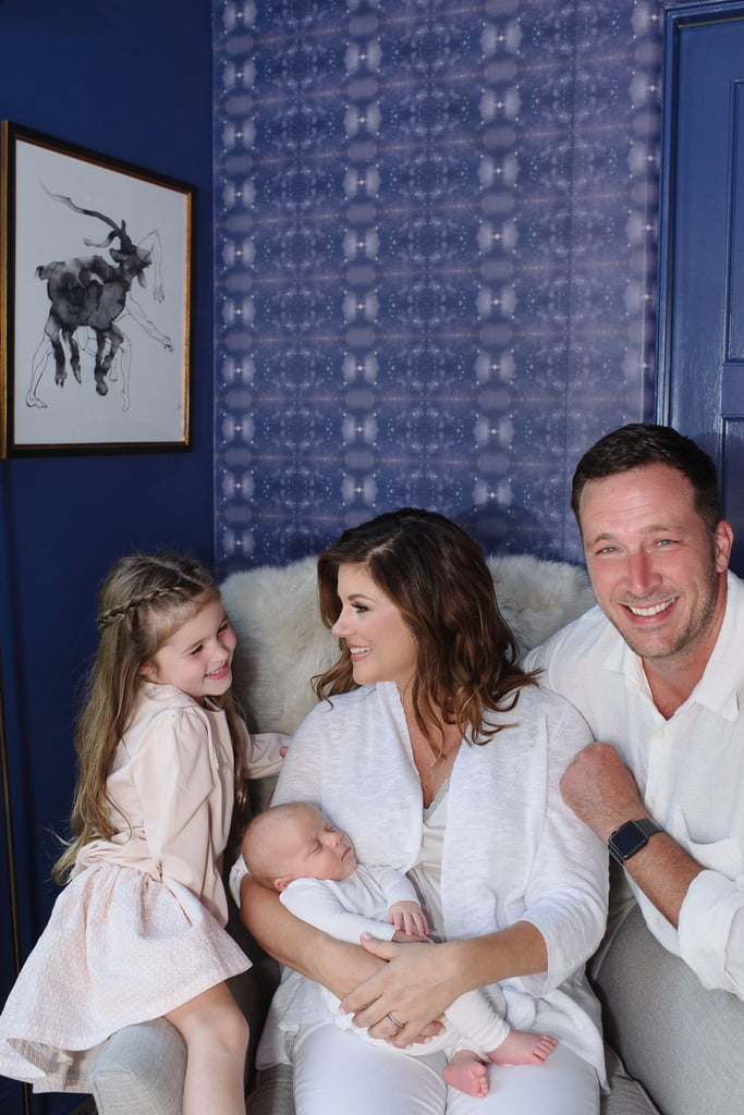 Tiffani Thiessen and Brady Smith appreciated the room with baby Holt and their older child, Harper.