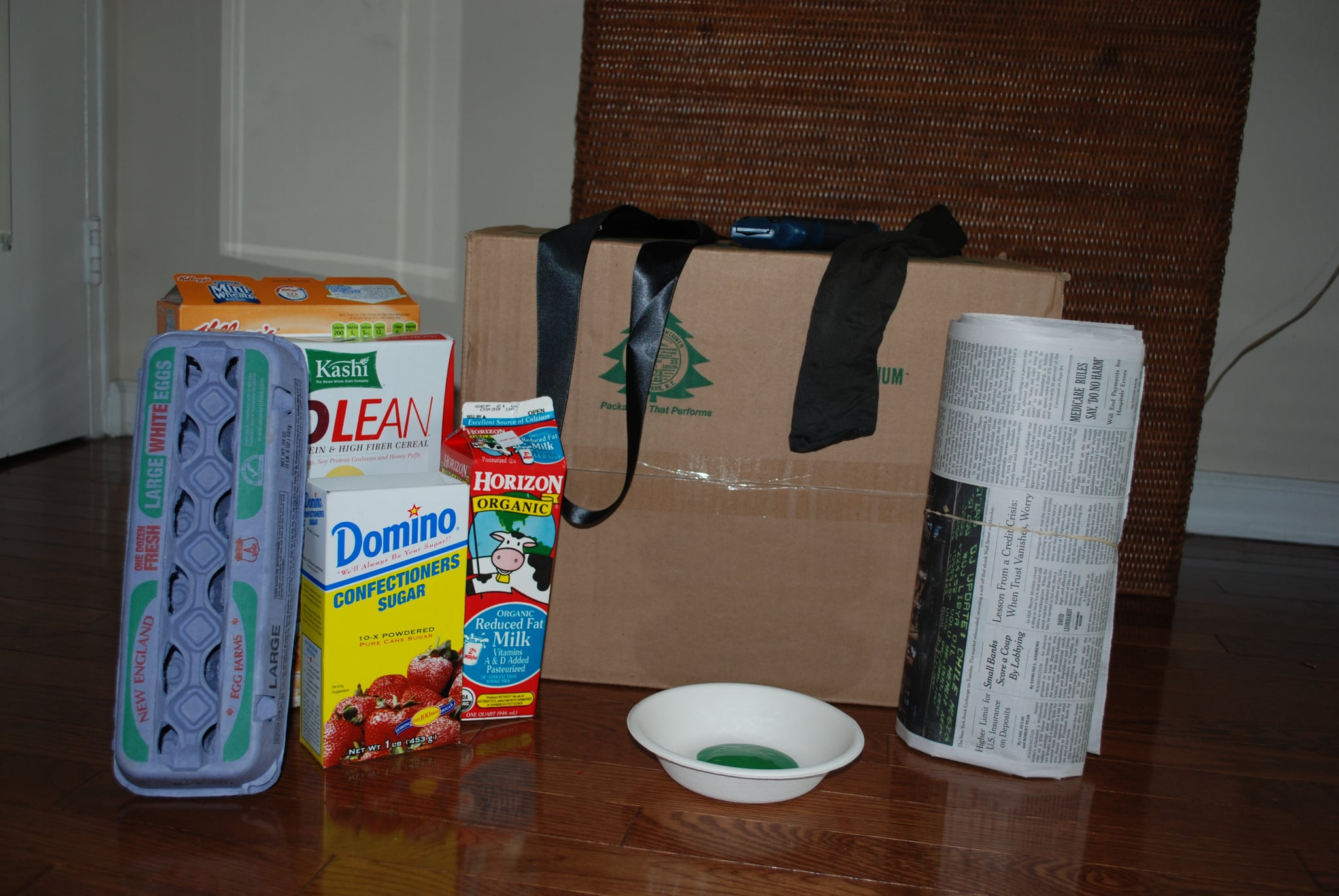 These are the supplies you will need to create the costume.