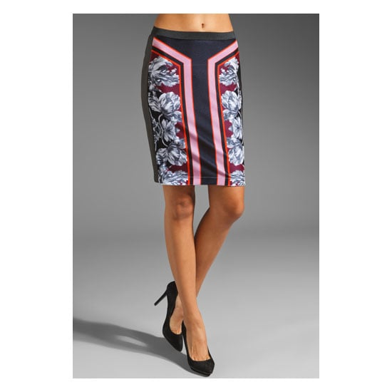 Peter Pilotto has mastered the body-aware print. That is, prints that a designed to fit the figure as opposed to an all-over wall paper style print. So effective and so flattering, like this hip-slimming pencil. Sneaky! —Ali, FabSugar editor Skirt, approx $167, Clover Canyon at Revolve
