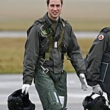 7.5: Amount of time in years he spent in the military — including training at The Royal Military Academy Sandhurst, Camp Bovington, RAF Cranwell, RAF Shawbury, and RAF Valley.  3: Number of titles he has: The Duke of Cambridge when in England, The Earl of Strathearn in Scotland, and The Baron of Carrickfergus in Northern Ireland.  1: Number of times he has received emergency dentistry. At a friend's wedding in 2013, his friend Tom Inskip knocked out part of his tooth on the dance floor.  $52,600: His annual salary as an air ambulance pilot.