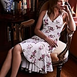 WAYF Ferrara Flare Hem Lace Dress