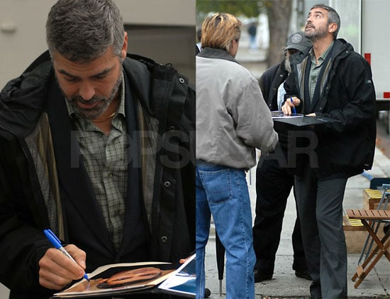 Gray Lumberjack George Clooney Still Hot