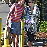 Matthew Bellamy linked arms with Kate Hudson.