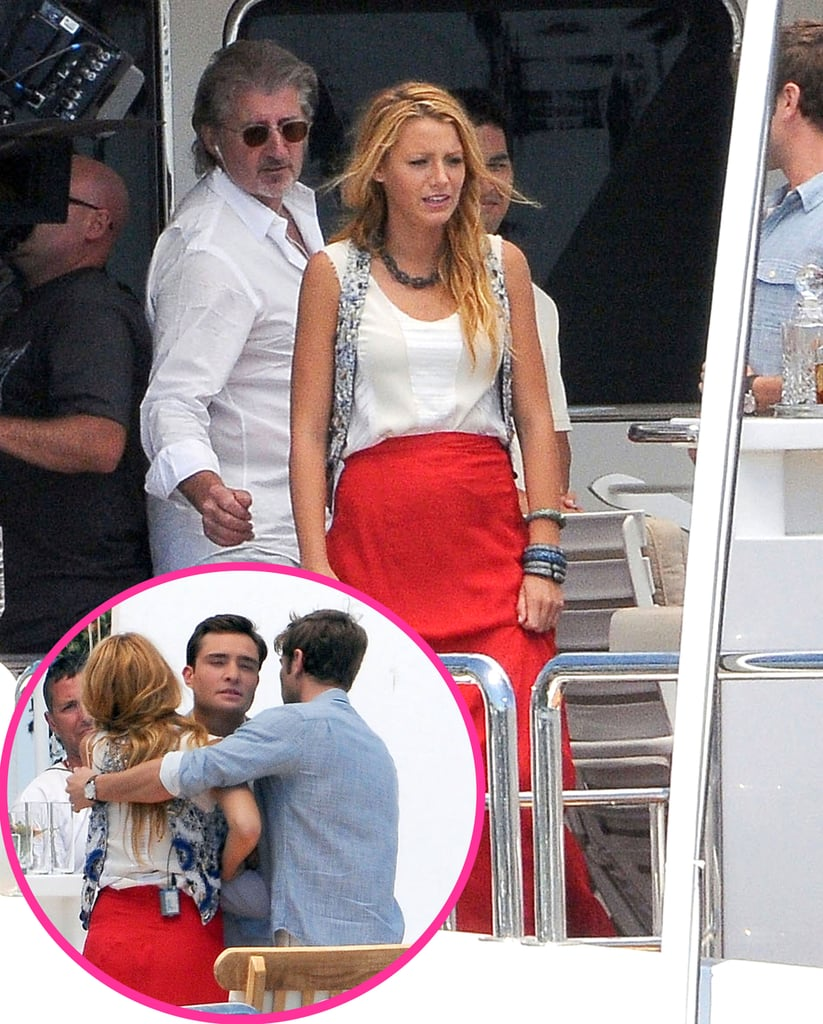 Blake Lively And Ed Westwick Shoot Gossip Girl In La
