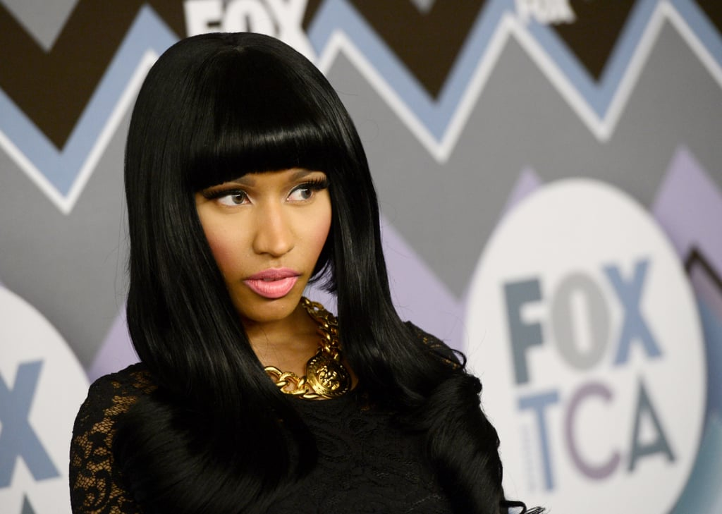 Nicki Minaj went for a dramatic look.