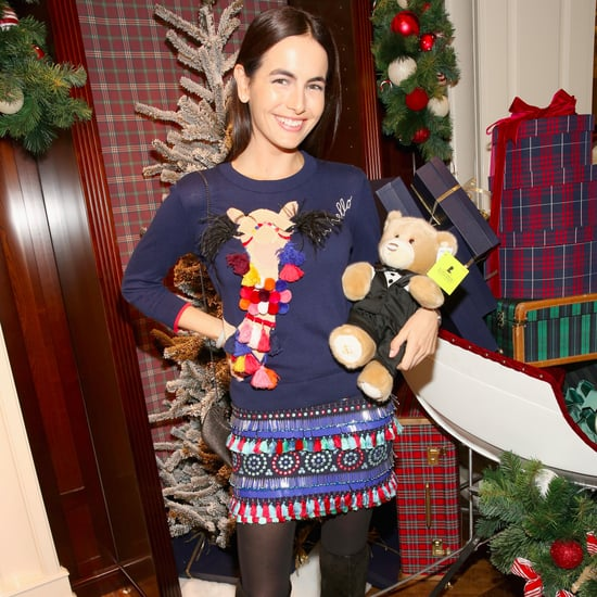 Camilla Belle's Kate Spade Holiday Sweater Dress Dec. 2016