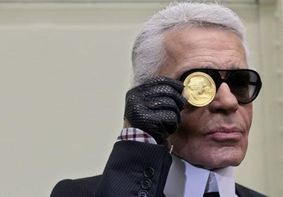 Karl Lagerfeld and Chanel Coins