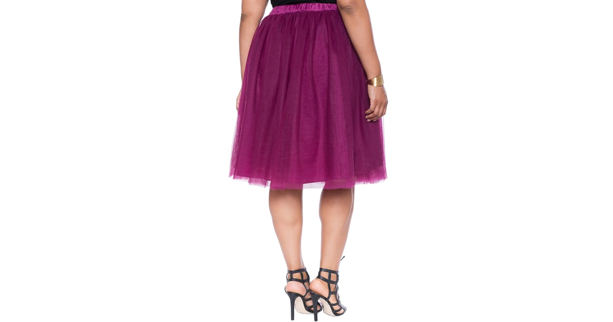 d10e08537 Eloquii Tulle Midi Skirt ($100) | Plus-Size Fashion Bloggers Wearing Tulle  Skirts | POPSUGAR Fashion Photo 4