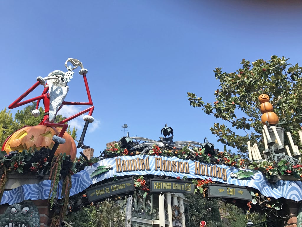 the haunted mansion transforms into nightmare before christmas - Haunted Mansion Nightmare Before Christmas
