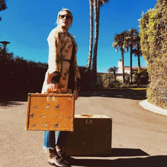 Emma Roberts's Monogrammed Suitcases