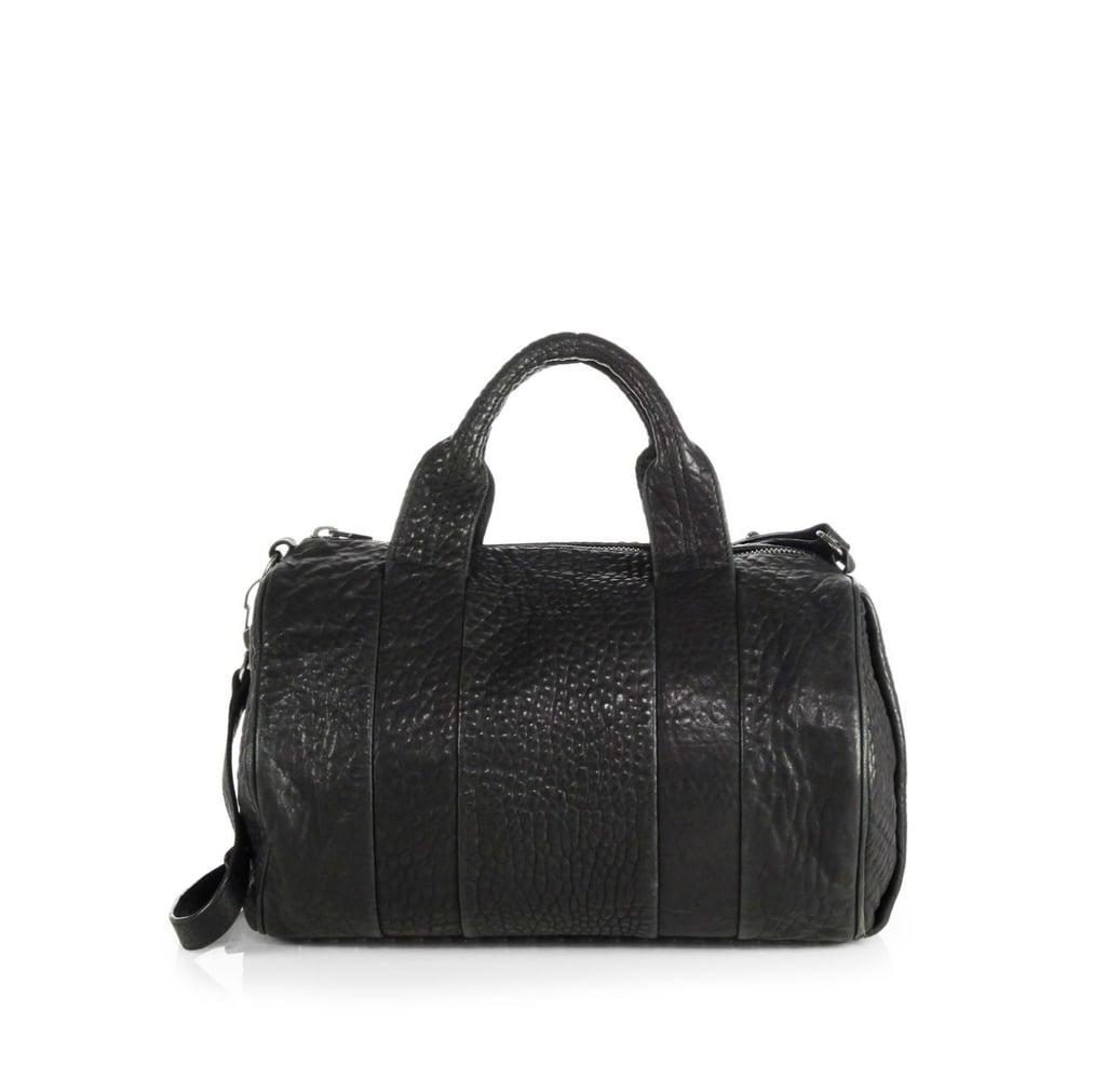 Alexander Wang Rocco Pebbled Leather Duffel Bag ($925)