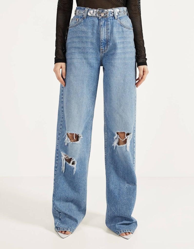Bershka '90s Ripped Flare Jeans