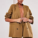 Sofia Richie x Missguided Taupe Oversized Tailored Jacket