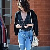 Selena Gomez Rouje Dots Top
