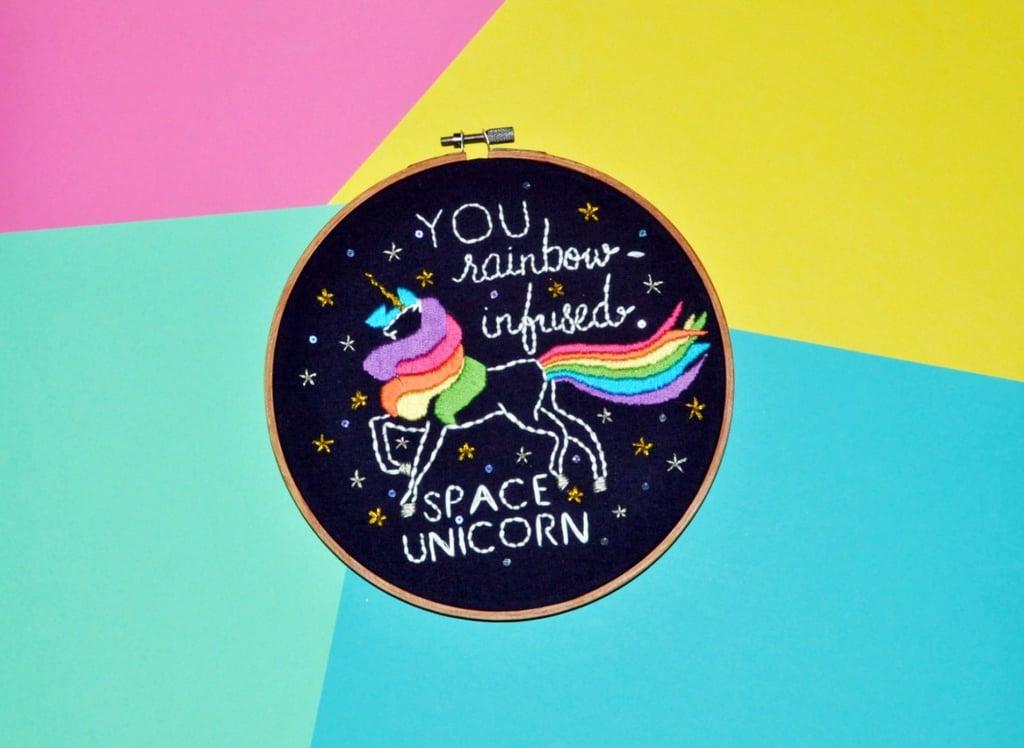 Unicorn Embroidery Hoops