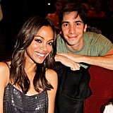 Zoe Saldana and Justin Long hung out at a party for Glamour.