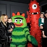 Nicole and Joel brought their kids, Harlow and Sparrow, to a Yo Gabba Gabba! concert in LA in November 2010.