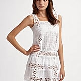 Onda De Mar Swim Eyelet and Crochet Coverup ($134)