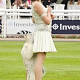 Britain's Got Talent winners Pudsey the dog and Ashleigh Butler performed at the derby.