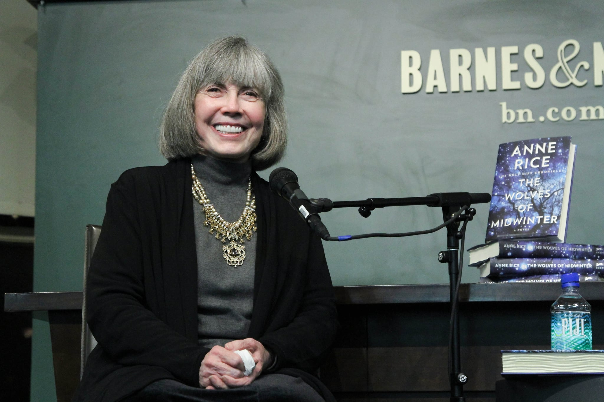 NEW YORK, NY - OCTOBER 16:  Anne Rice signs copies of her new book