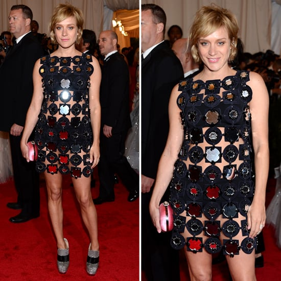 Pictures of Chloe Sevigny in See-Through Mod Miu Miu Dress on the Red Carpet at the 2012 Met Costume Institue Gala