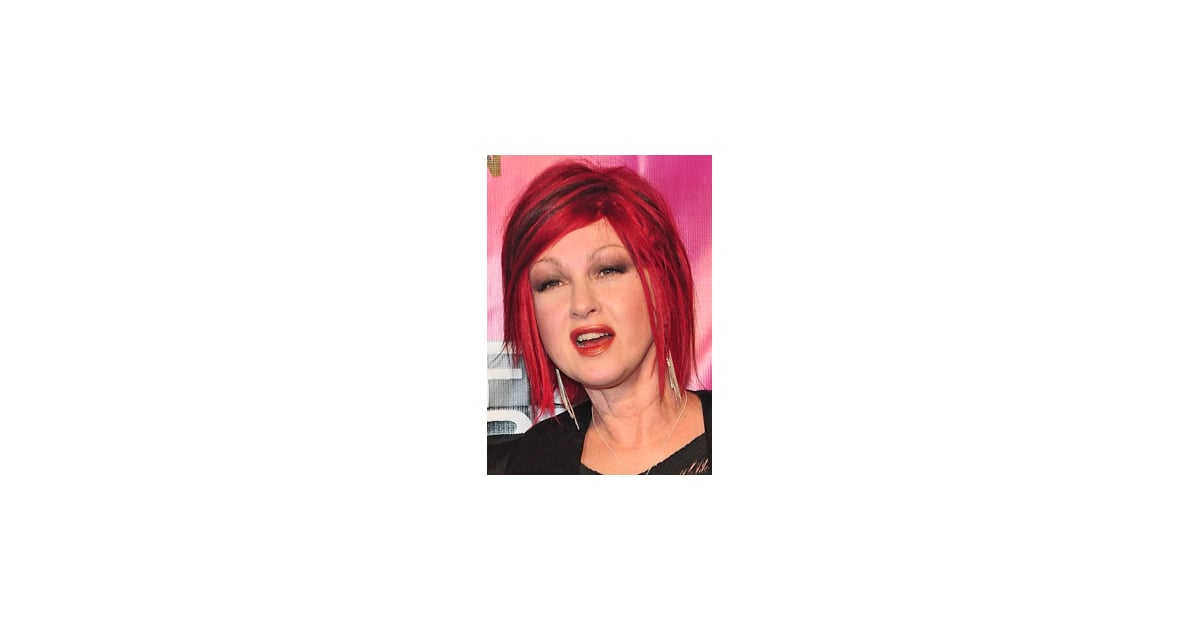 Cyndi Laupers New Pink Hair Popsugar Beauty