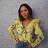 A Silky Yellow Blouse and Jeans