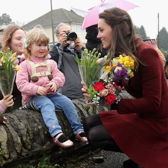 Kate Middleton in Caerphilly, Wales, February 2017