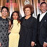 Will Smith and Jada Pinkett Smith met up with Angela Davis and Shola Lynch.