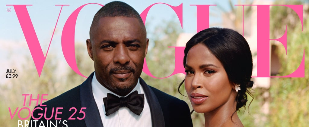 Idris Elba and Sabrina Dhowre British Vogue Wedding Pictures