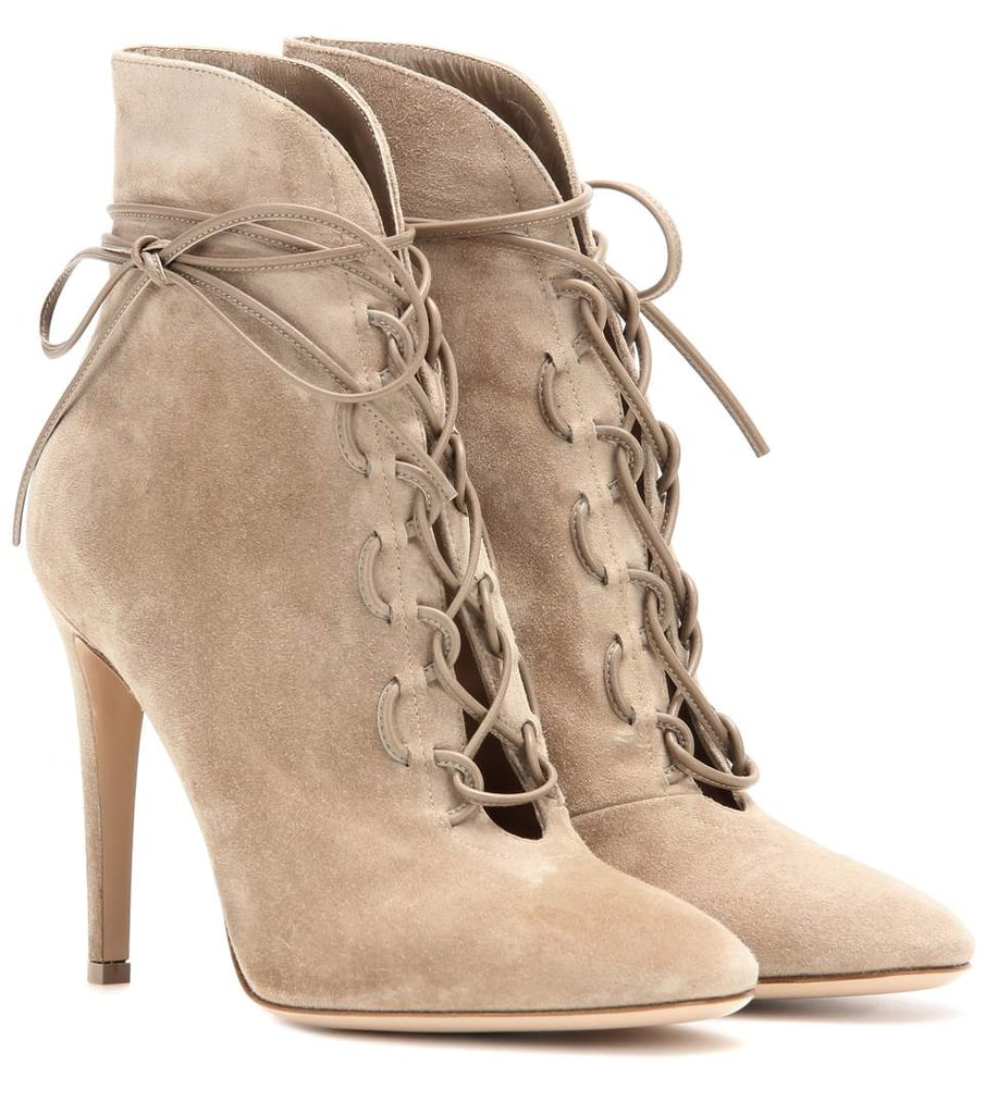 Gianvito Rossi Empire lace-up suede ankle boots fh4uh4R