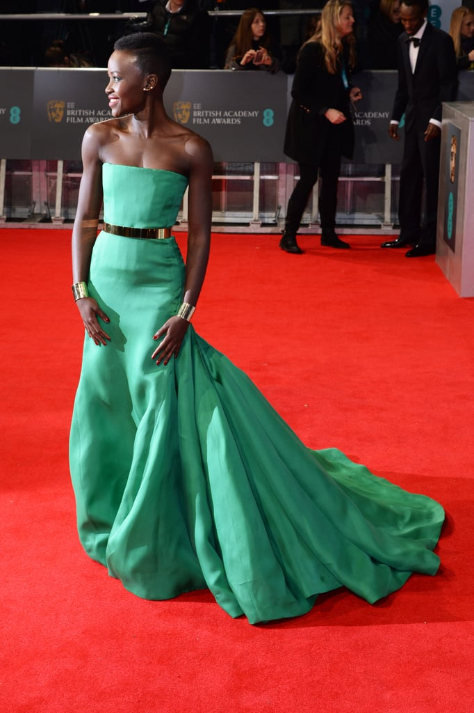Lupita Nyong'o on the 2014 BAFTA Red Carpet