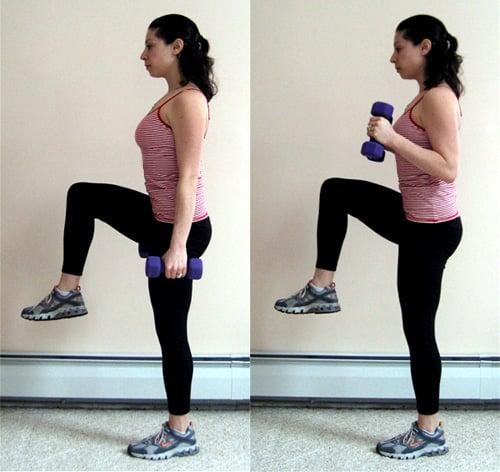 Multitasking Move: Balancing Hammer Curls