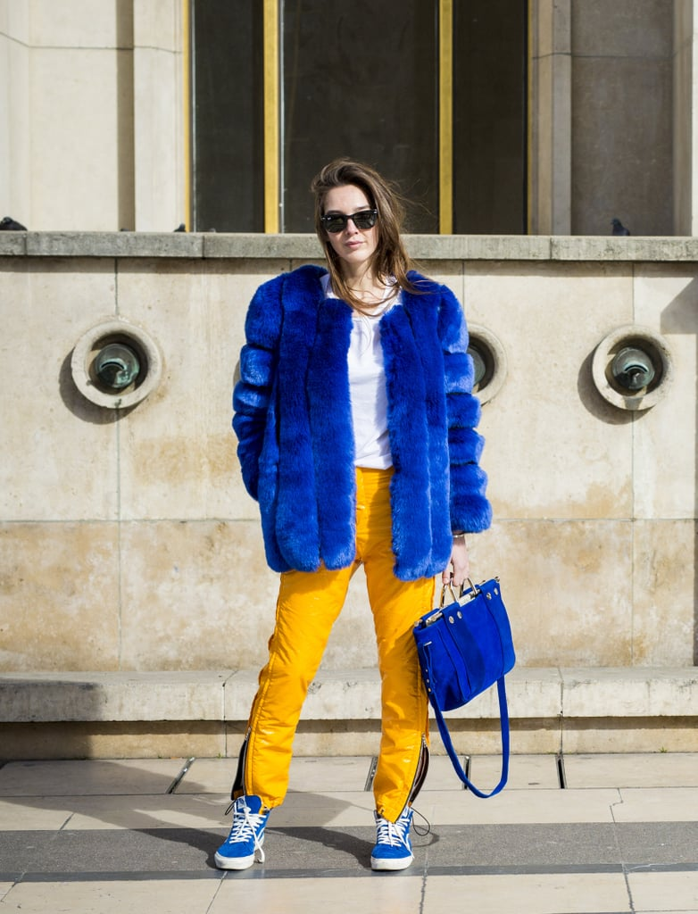 With a Bright Furry Jacket and Even Brighter Pants