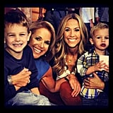 Backstage at her new talk show, Katie Couric snapped a photo with Sheryl Crow and her kids. Source: Instagram user katiecouric