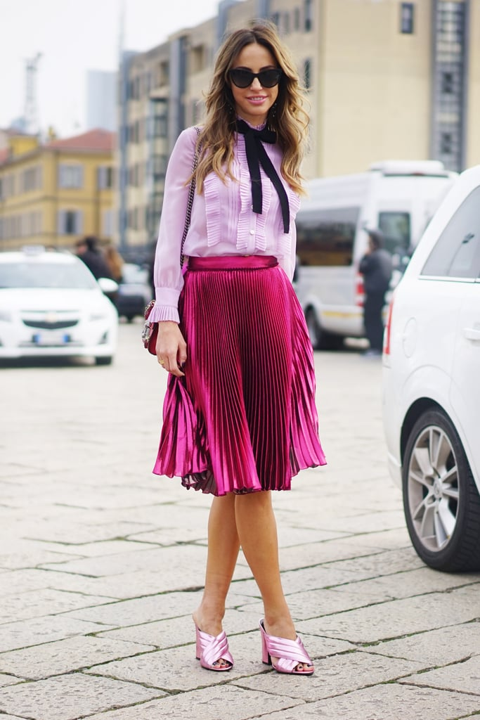 Wear Amped-Up Feminine Separates in Varying Shades of Pink