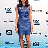 Aubrey Plaza wore a blue dress on the blue carpet at the Do Something Awards.