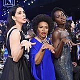 Pictured: Sarah Silverman, Lupita Nyong'o, and Jenifer Lewis