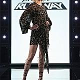 Project Runway Episode 13: Karlie's Sheer Embellished Minidress