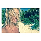 Lara Bingle's hair blocked the view in this pretty beachside picture. Source: Instagram user mslbingle