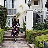 Mules, a Romantic Maxi Dress, and a Thick Blazer