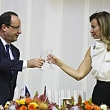 Valérie Trierweiler, a journalist, and President Hollande had been together since 2007, when Hollande reportedly left his partner of 30 years for her.