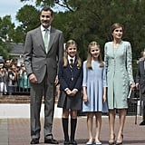 Queen Letizia and Spanish Royal Family May 2017