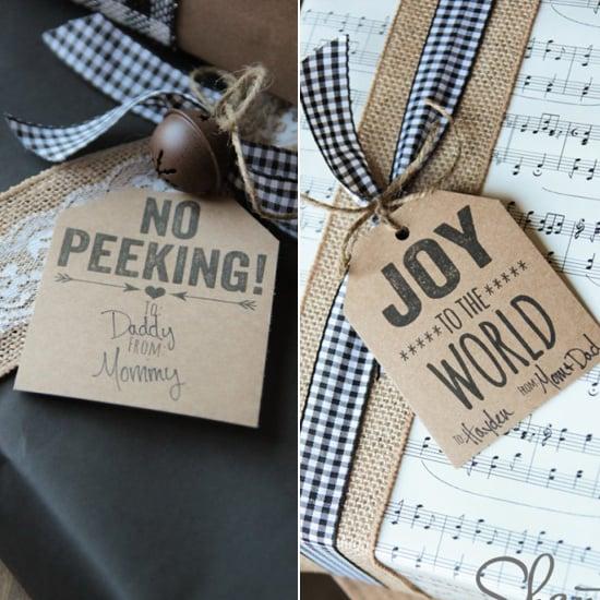 No Peeking and Joy to the World Gift Tags