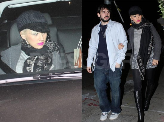 Photos of Christina Aguilera and Jordan Bratman Leaving Osteria Mozza